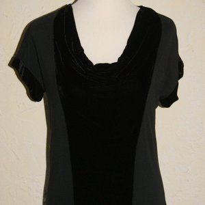 Ladies CALVIN KLEIN JEANS Draped Front Blouse Sz S